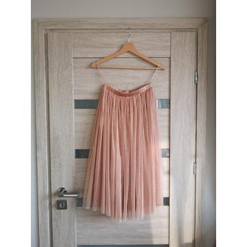 Tiulowa spódnica S M basic klasyczna księżniczka