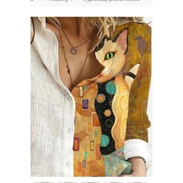 Nowa koszula damska z kotem nowy model rozmiar XXL