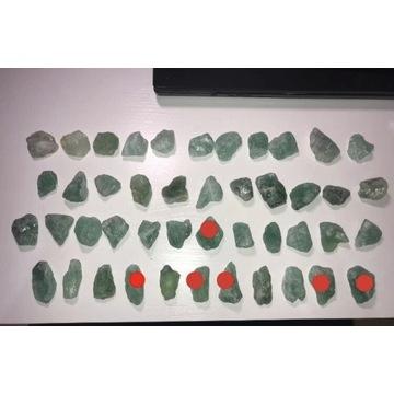 Kryształ fluoryt zielony, kamienie