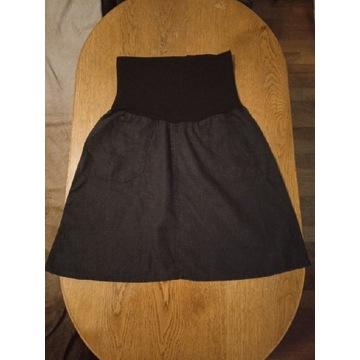 Czarna spódniczka ciążowa BEBEFIELD r. 42