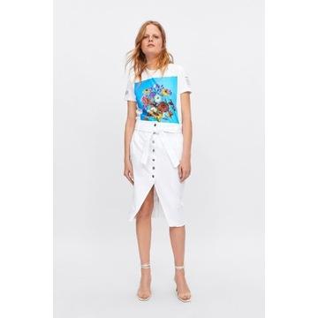 ZARA biała dżinsowa spódnica *S