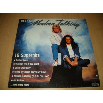 BEST OF MODERN TALKING - 16 SUPER HITS - LP