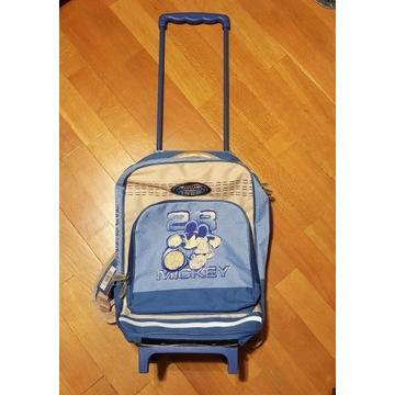 Walizka na kółkach plecak Disney Mickey Mouse