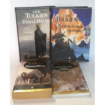 Tolkien zestaw: Dzieci Hurina, Silmarillion i inne