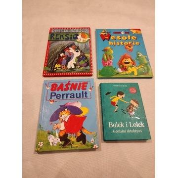 4 książki dla młodszych dzieci Reksio,Bolek,Perrau