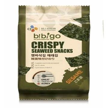 Chipsy z Wodorostow Bibigo BBQ Seaweed Rice