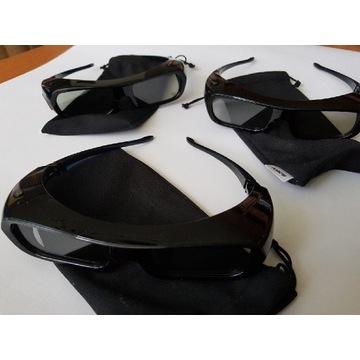 3x okulary aktywne 3d Sony TDG-BR250