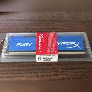 Pamięć HyperX 4GB DDR3 1600MHz CL10 FURY Blue