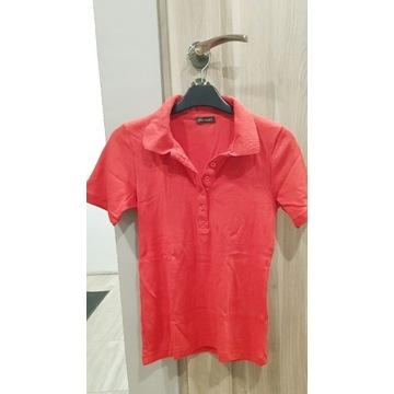Czerwony T-shirt typu Polo