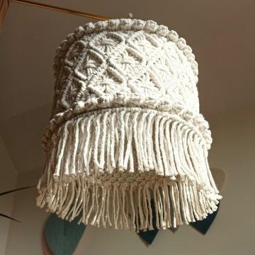 Abażur makrama lampa boho