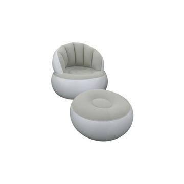 Nadmuchiwany fotel wraz z podnóżkiem