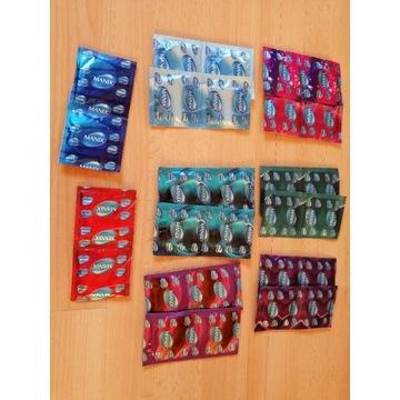 Prezerwatywy Unimil, Durex, Skyn 50 szt
