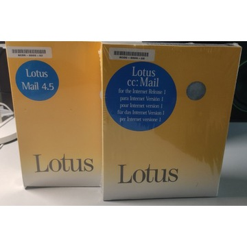 Lotus Mail 4.5, Lotus cc:Mail 1.0 AS/400 BOX FOLIA