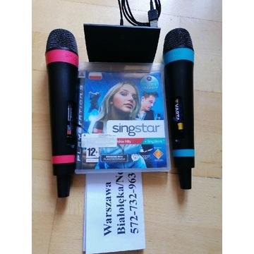 2 mikrofony bezprzewodowe Sony Singstar PS3 i gra