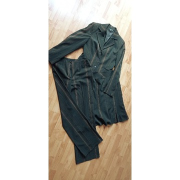 Żakiet komplet spodnie + spódnica r.36