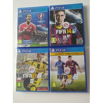 FIFA 14 15 17 Ultimate Edition PS4 Kolekcja