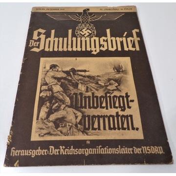 Czasopismo der schulungsbrief 1937