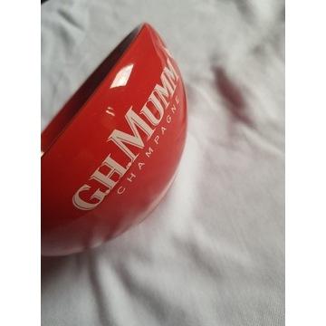 G. H. Mumm miseczka miska czerwona na truskawki