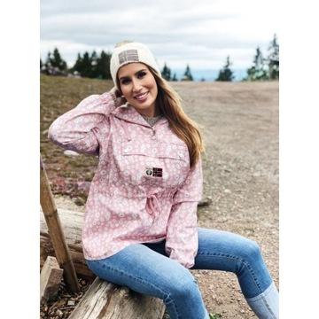 Barfota kurtka bluza S M 38 kangurka róż narty
