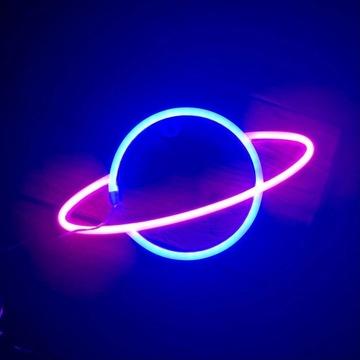 Neon LED Planeta, super prezent, lampka dla dzieci