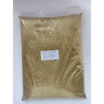 Brokat złoty B0202 0,4 mm 1 kg glitter