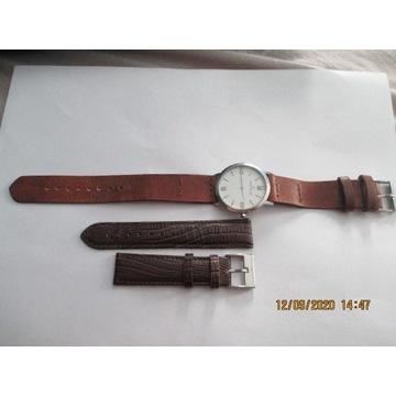 Zegarek JACQUES LEMANANS dwa paski,ładny.