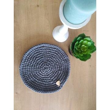 Podkładki na stół ze sznurka handmade rękodzieło