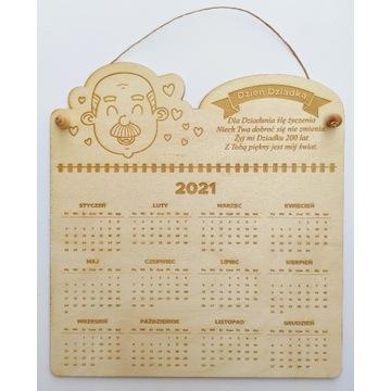 Kalendarz drewniany, prezent, Dzień Dziadka