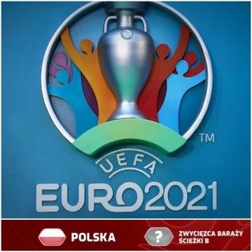 2 Bilety Euro 2021 Mecz Polska - zw.Baraży Dublin