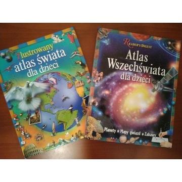 Atlas świata + Atlas wszechświata dla dzieci