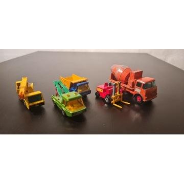 Zabawki samochodzki matchbox zestaw 5sztuk