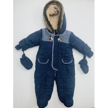 Super kombinezon zimowy 3-6 msc. z rękawiczkami