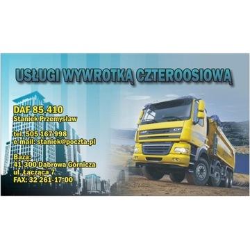 Usługi Wywrotką Koparko - ładowarką Transport