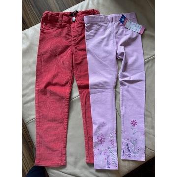 Spodnie sztruksowe + leginsy roz. 116