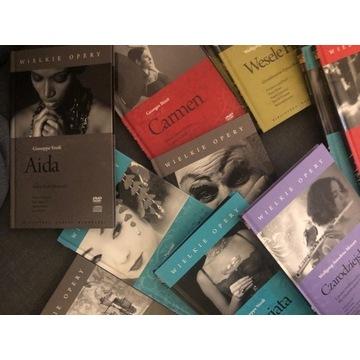 WIELKIE OPERY, 12 DVD, 12 CD, TRAVIATA, CARMEN