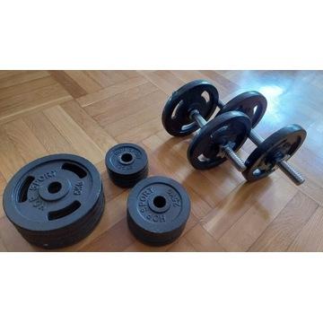 Hantle żeliwne 2x30kg Hop Sport