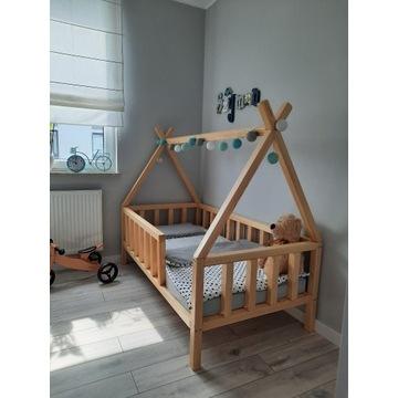 Łóżko dziecięce sosnowe tipi bezbarwne 80x160
