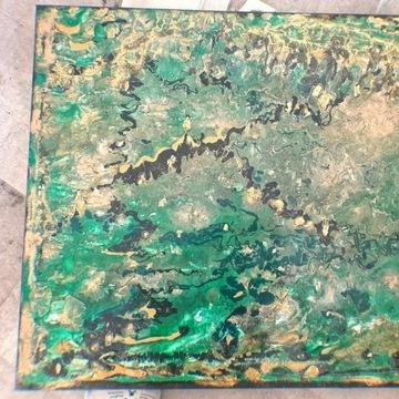 Zielona Dolina obraz ręcznie malowany 60x50