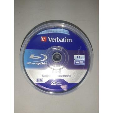 Płyty Verbatim BD-R HARD COAT 25GB 6x 25 sztuk