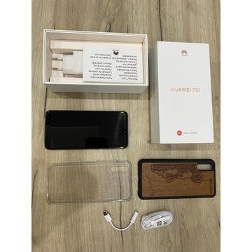 Huawei P20 128GB + Etui z prawdziwego drewna