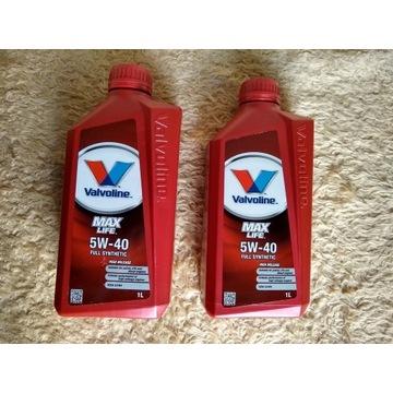 Olej syntetyczny Valvoline MaxLife 5W40 2 litry