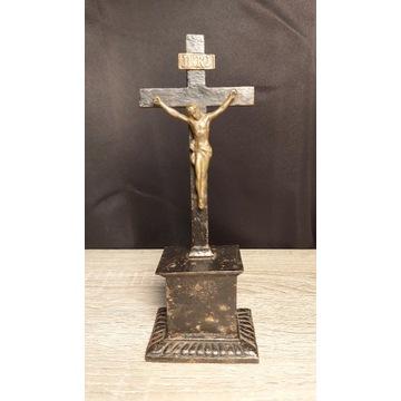 Stary krzyż krucyfiks żeliwo huta Gliwice?