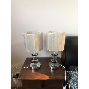 Lampki nocne stołowe z abażurem LED E14, komplet 2