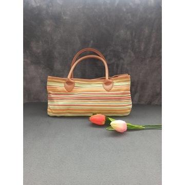 Tęczowa torebka do ręki * torba materiałowa