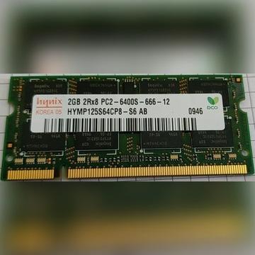 PAMIĘĆ RAM 2GB HYNIX HYMP125S64CP8-S6 PC2-6400S