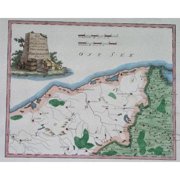 1789 MAPA POLSKA PRUSY KASZUBY k. Gdańsk Gdynia