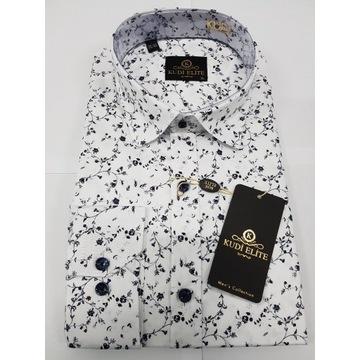 Męska koszula KUDI nowa XL casual Slim Fit