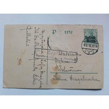 Karta,Siedlce,Łuków,1916r.
