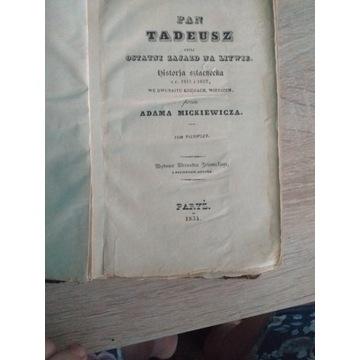 Pan Tadeusz z 1834roku
