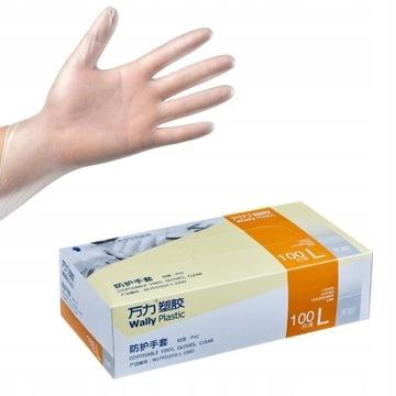 Rękawiczki rękawice jednorazowe winylowe ochronne